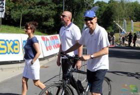 Piotr Grzymowicz prezydent Olsztyna przed startem w Mazovia Olsztyn 2017