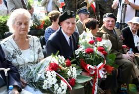 Uroczystość obchodów 73. rocznicy Powstana Warszawskiego